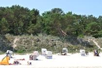 Ostsee Strandkörbe Sonnen