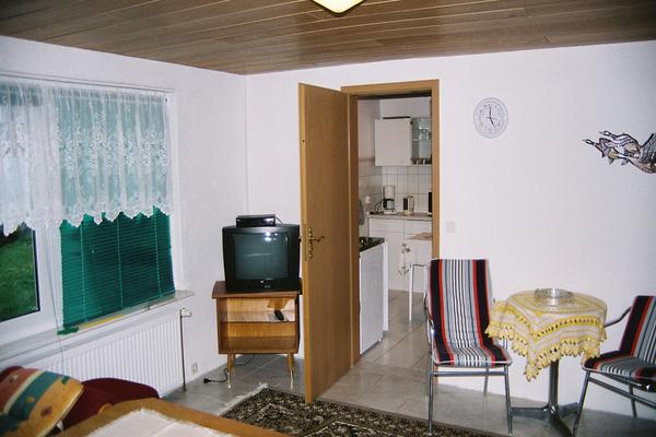 Ferienhaus in Woldzegarten in der Mecklenburgischen Seenplatte Wohnzimmer